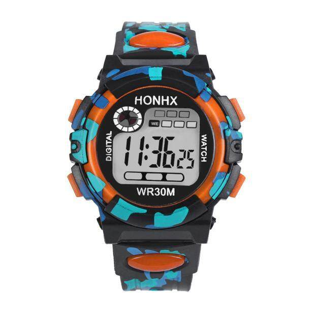 Docesty Kids Child Boy Girl Multifunction Waterproof Sports Electronic Watch Watches OR Malaysia