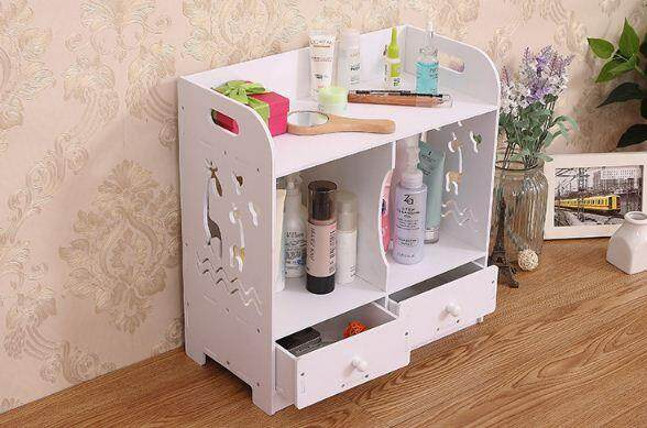 DIY Cosmetic rack towel storage box waterproof creative desktop table with drawer storage rack