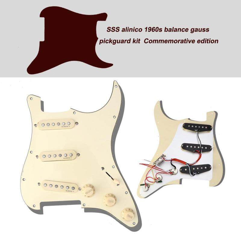 Prewired Pickguard  Schrauben Set Commemorative Model Classical Prewired Loaded SSS Pickguard alnico V pickups in 60s for Fender ST Guitar Malaysia
