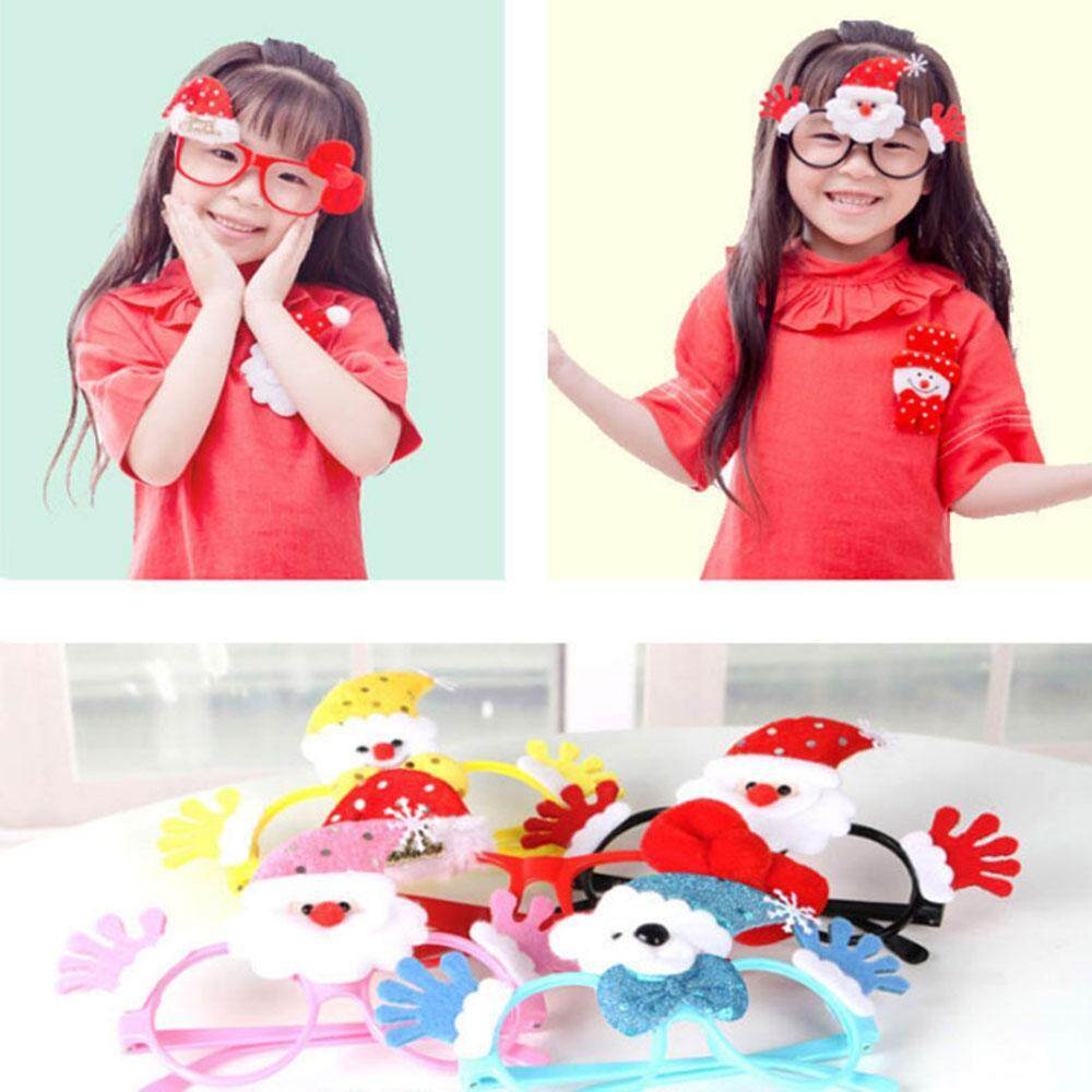 Cute Lovely Cartoon Santa Snowman Christmas Glasses Frame Children Ornaments Props Glasses Frame Child Xmas Gift By Yks.