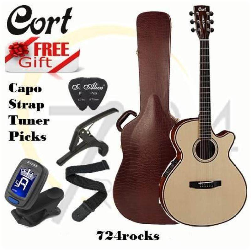 Cort AS-S4 Natural Full Solid Model Acoustic Guitar Malaysia