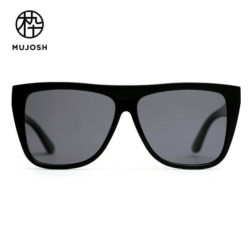 d1404364136 MUJOSH Unisex Acetate TAC Polarized Lens Square Retro Sunglasses  SM1820156C01