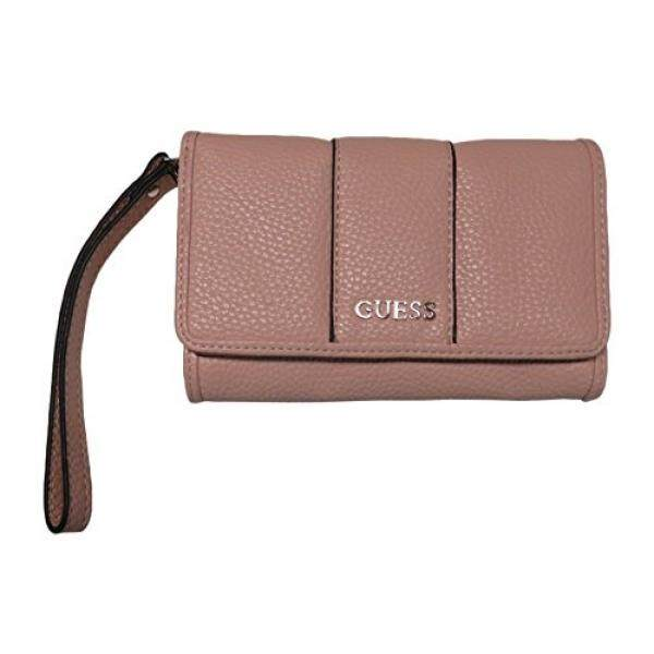 Guess Womens Phone Case Wristlet Wallet Ware Signature Logo Blush