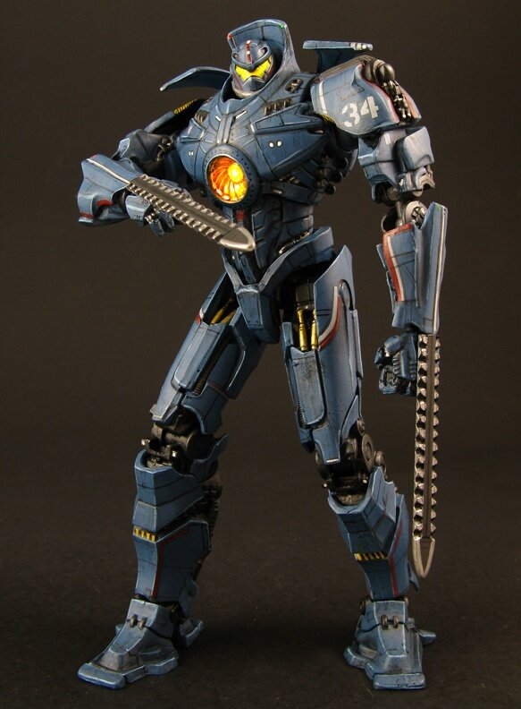 "Pacific Rim Jaeger Mark 3 Gipsy Danger 7/"" Action Figure Battle Damage Edition"