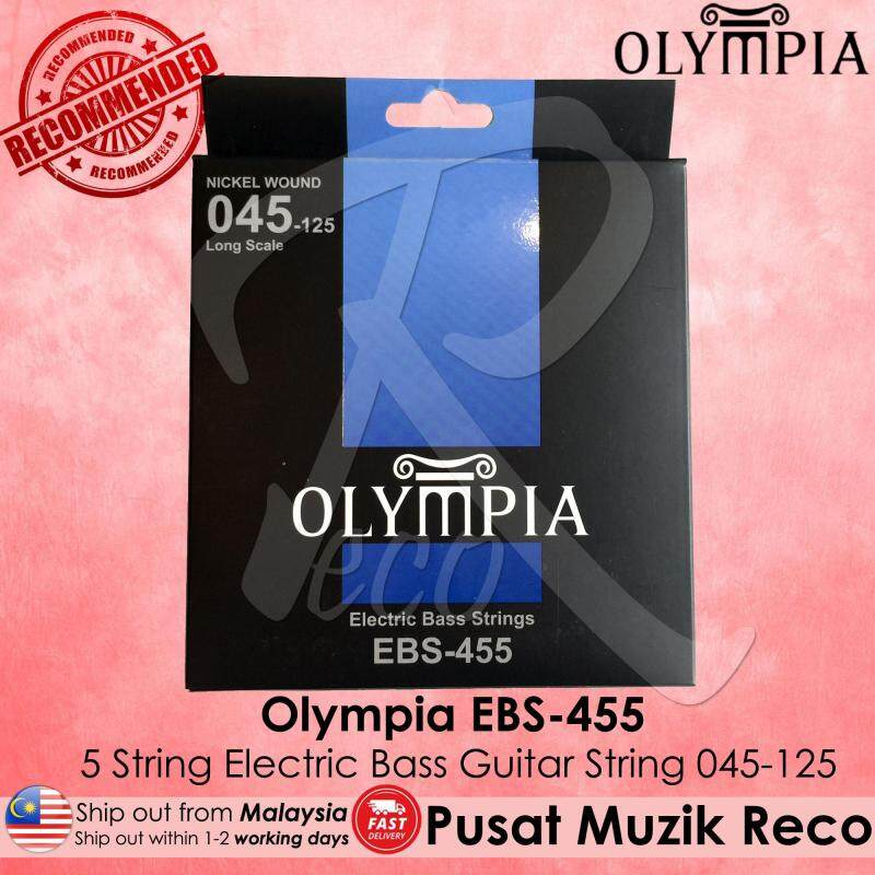 Olympia EBS-455 5 String Electric Bass Guitar String EBS455 Malaysia