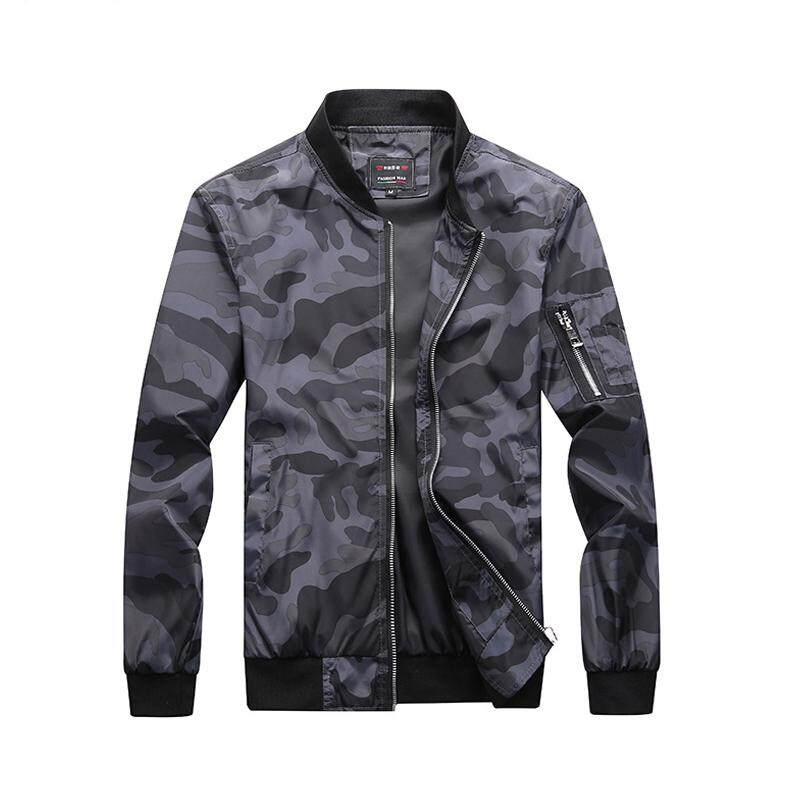 1b1e727db79c ZZOOI Military Camouflage Bomber Jacket Men Printing Motorcycle Pilot Air  Coat Outwear Mens Stand Collar Zipper