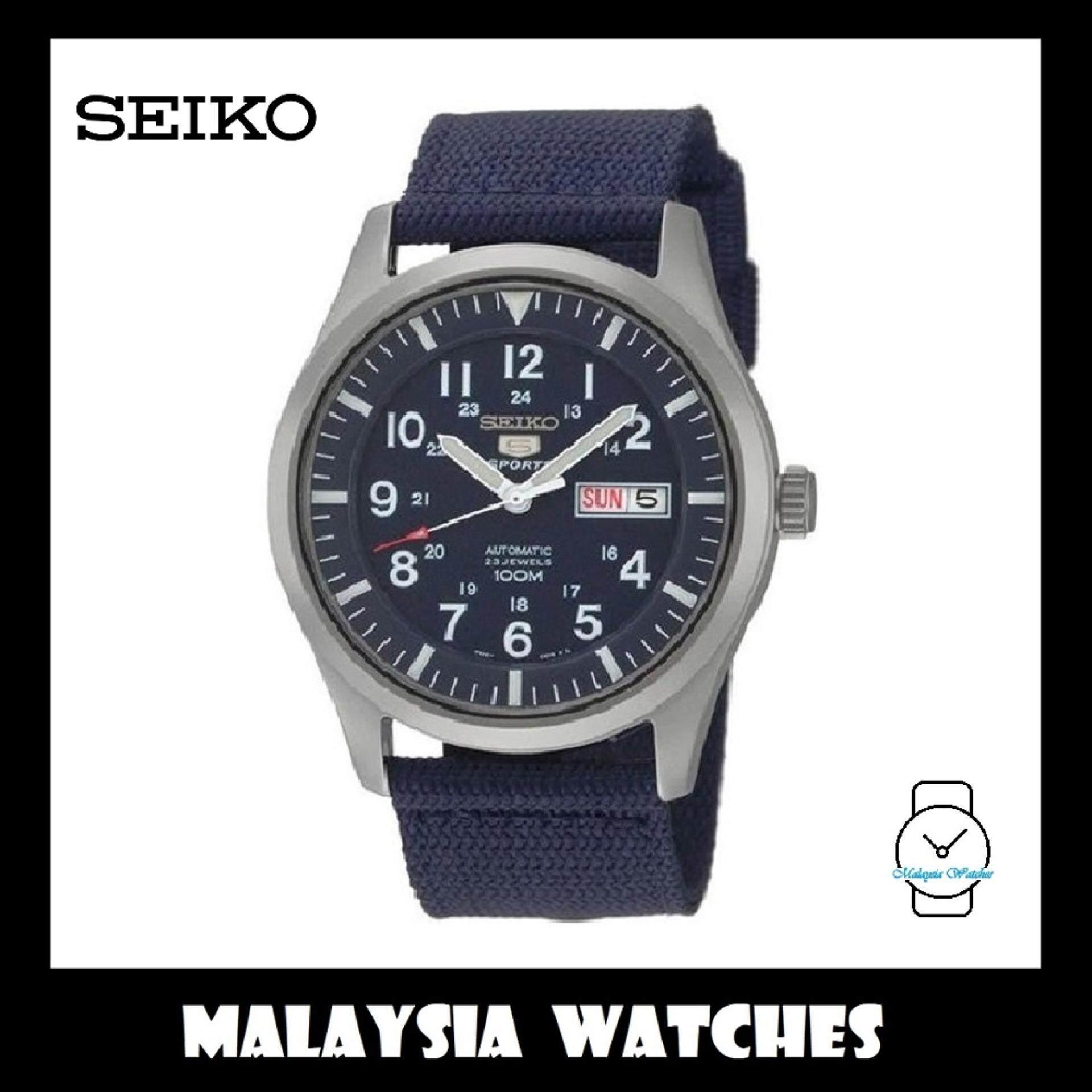 Seiko 5 Sports SNZG11K1 Automatic Dark Blue Nylon Strap Watch (100% Original ) 505dd92690