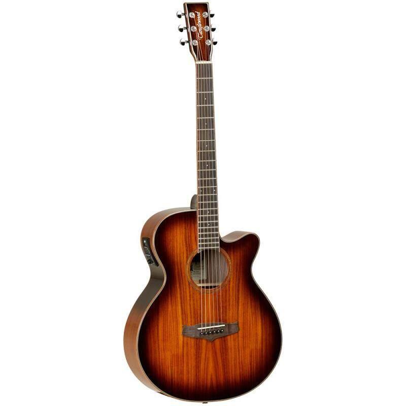Tanglewood Acoustic Guitar TW4 E Koa, Super Folk Size Solid Top, Cutaway Malaysia
