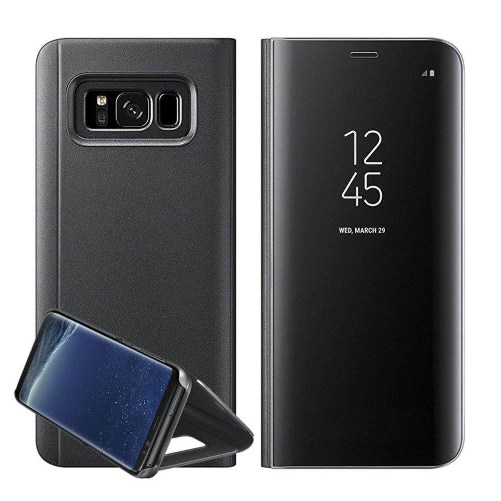 pretty nice 3a0f9 81f9a Discount Cases for Samsung Galaxy Note 8 Original Full Screen Mirror Clear  View Phone Case for Samsung Galaxy Note 8 PU Leather Flip Stand Cover