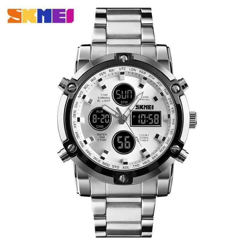 SKMEI 1389 Mens Quartz Analog Watch Luxury Fashion Sport Wristwatch Waterproof Stainless Male Watches Clock Men Quartz Sport Watch Business Men Watch Malaysia