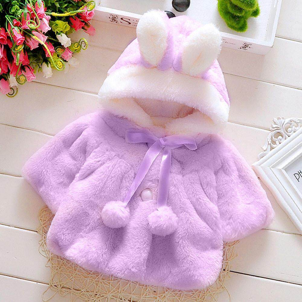 【free Shipping】baby Infant Girls Autumn Winter Hooded Coat Cloak Jacket Thick Warm Clothes By Childshop.