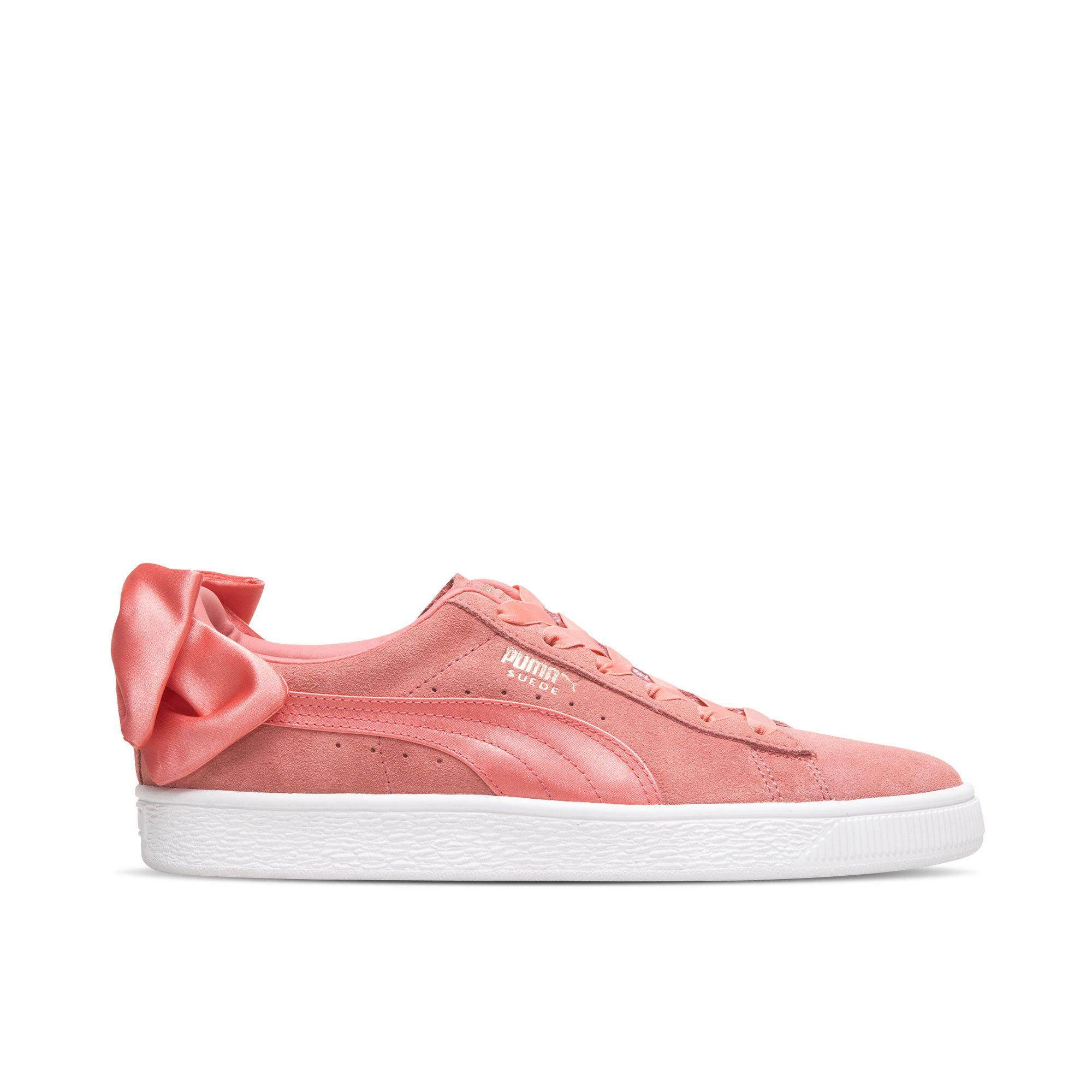 PUMA Puma Shoppe Women s Shoes Athletic Shoes 2018 Summer New Style Bow  Leisure Low Top 58eb60e97