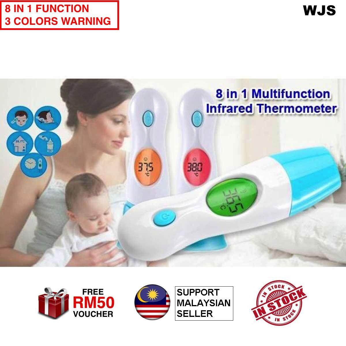 Health Monitors Tests Thermometers Buy Infrared Termometer Gun Anak Digital 3 Colors Warning Wjs 8 In 1 Thermometer Multi Functions Baby Fever Ear Forehead