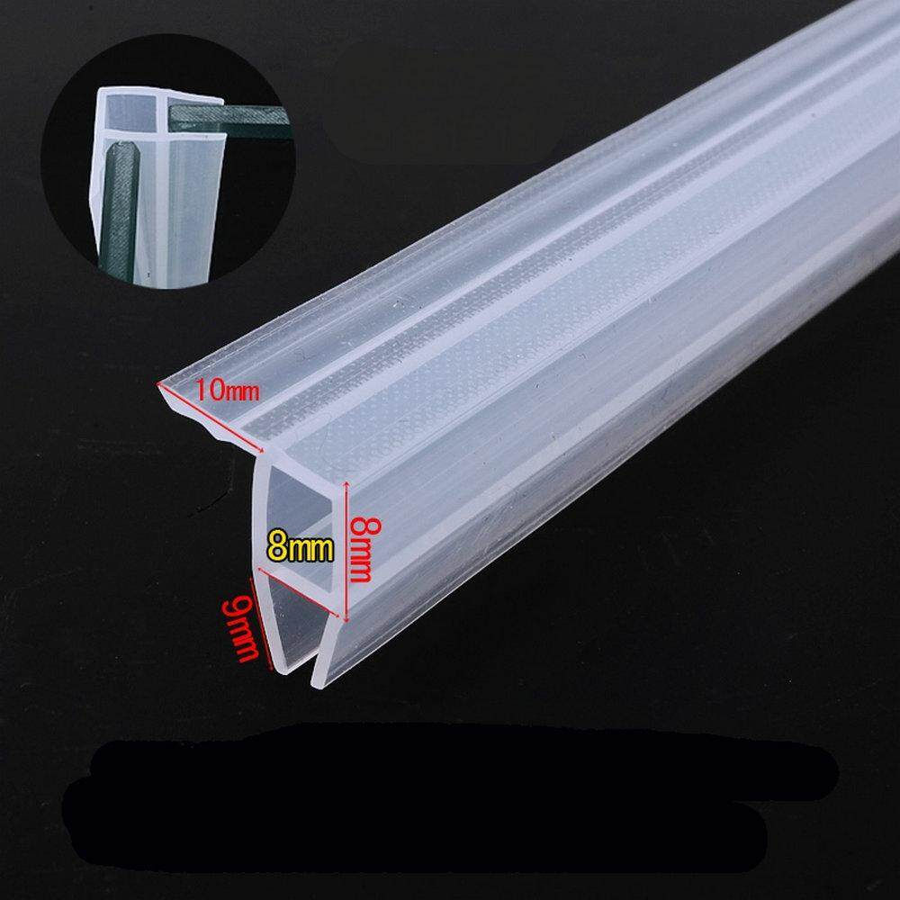 Door Window Weather Strip Balcony Shower Screen Angle Seals for 8mm Thick Glass 5 Meters Transparent