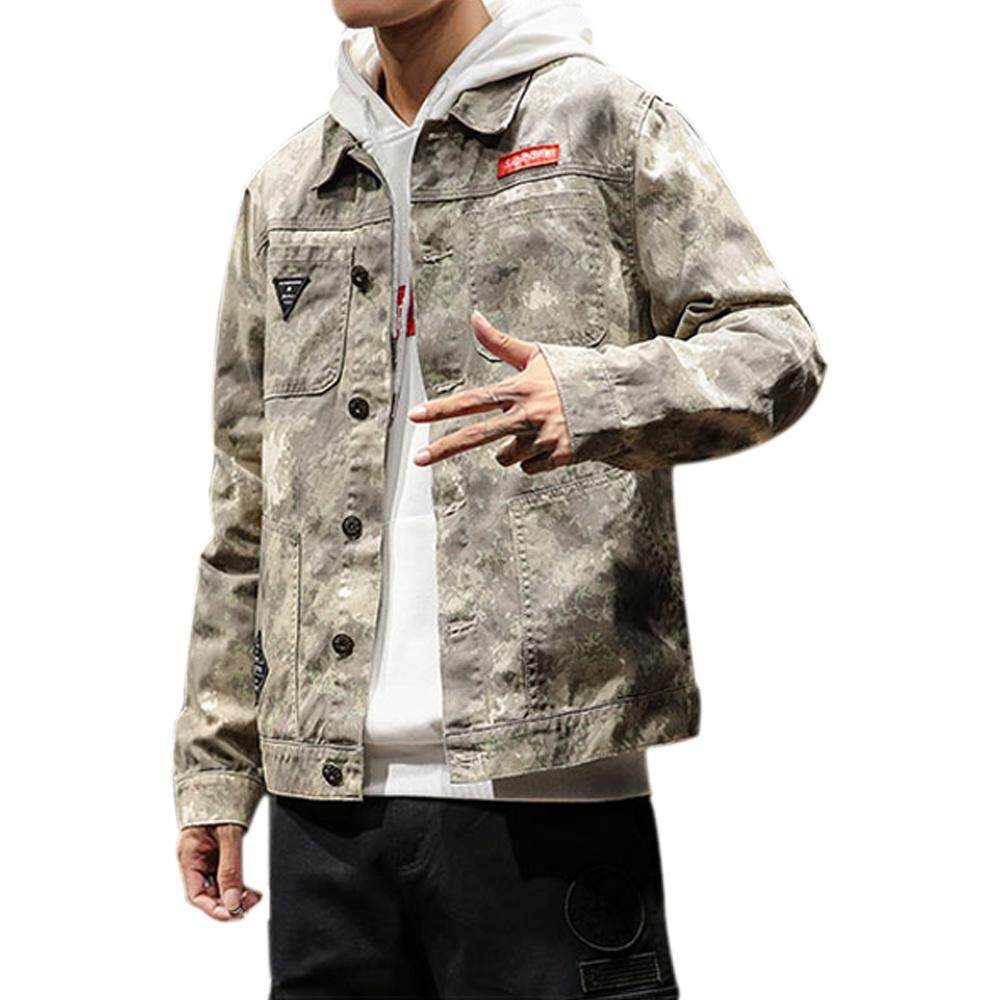 bfe629265b5 Epoch Jean Jacket Camouflage Jacket Casual M-XL Camouflage Youth School  Yellow camouflage M