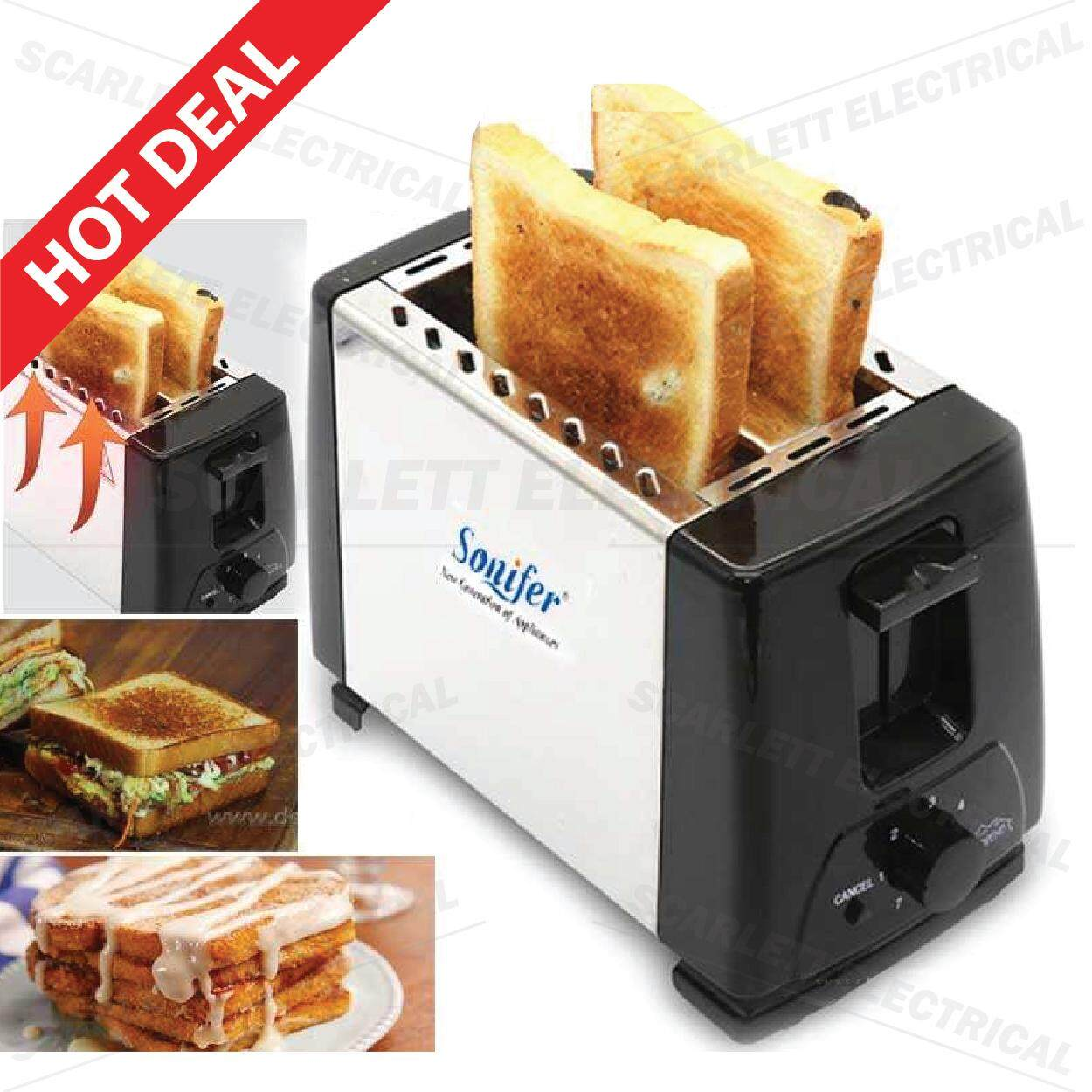 Stainless Steel 2 Slices Pop Up Toaster Bread Automatic Grill Machine By Target Online Trading.