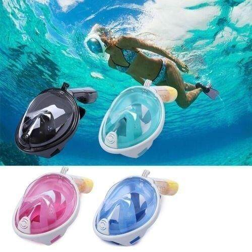 Swimming Diving Full Face Snorkel Scuba Anti-Fog Snorkeling Mask Surface