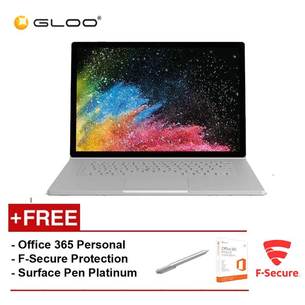 Surface Book 2 13 Core i7/8GB RAM - 256GB [FREE F-Secure End Point Protection + Off 365 Personal + Microsoft Surface Pen Platinum] Malaysia