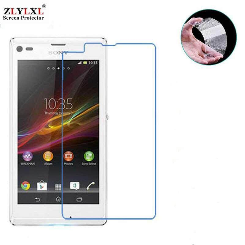 2 Pcs for Sony Xperia L ( S36H ) tempered Glass glossy guard screen protector