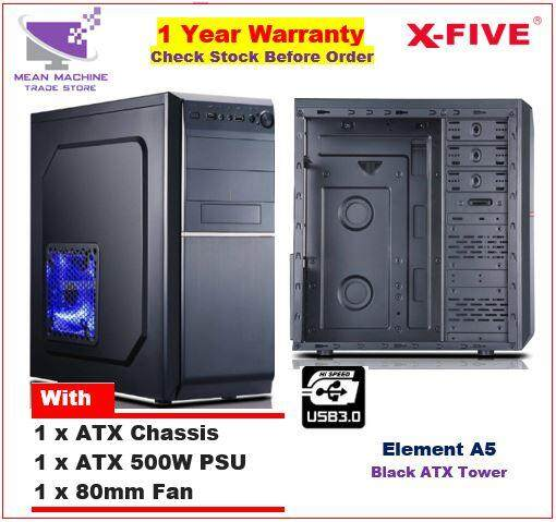 #X-Five Element A5 ATX Chassis ( 500W ATX PSU + 8cm Fan Included)# Malaysia