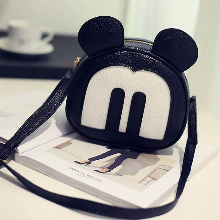 Mickey Small Cute Sling Bag BG311, Black