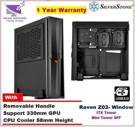 #Silverstone Raven Z02 Mini ITX SFF Steel Portable Chassis ( RVZ02B-W) # Malaysia