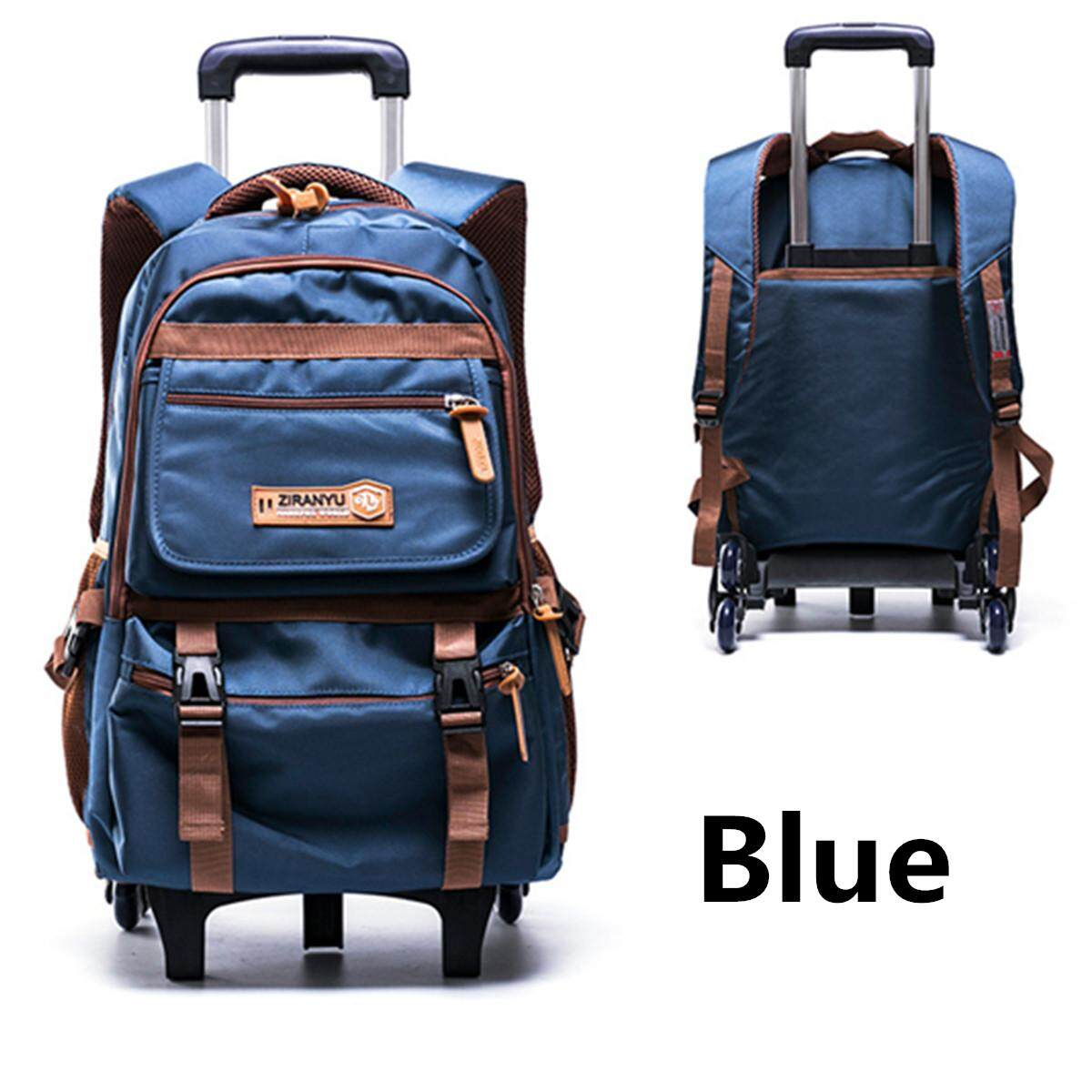 39f3ed474a Six Wheels Teenagers Student Handbag School Bag Trolley Backpack Removable  6  wheel