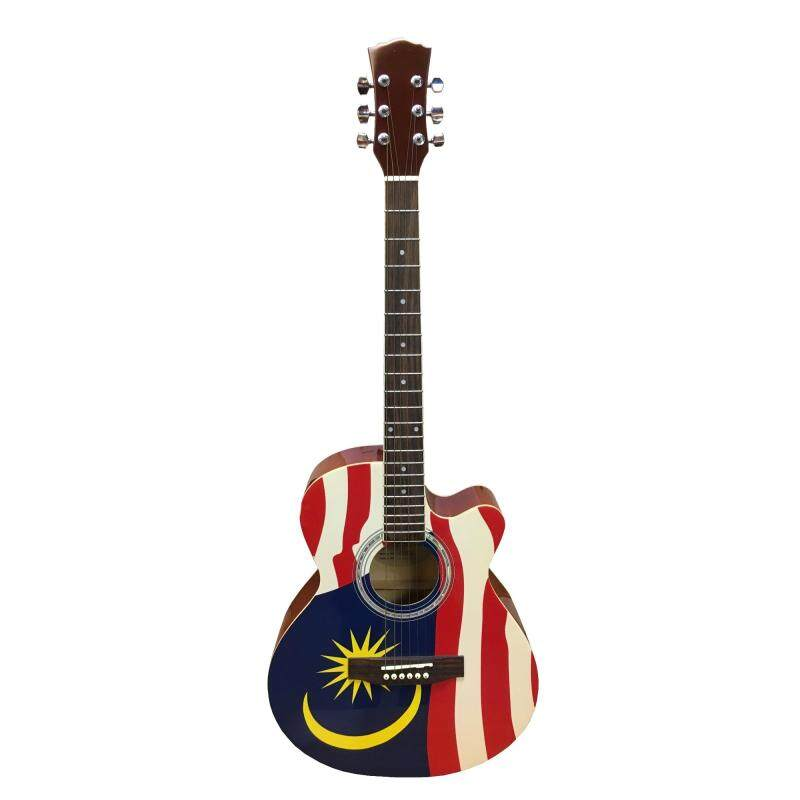 President Flag Designed 40inch Acoustic Guitar AG-201-without headstock Malaysia