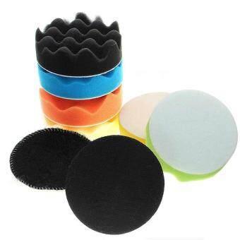 4inch Sponge Polishing Waxing Buffing Pads Set Kit Compound Auto Car + Drill 8Pcs