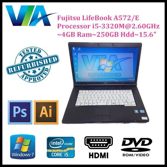 Refurbished Laptop Fujitsu A572/E Core i5~4GB~250GB~Win7 Pro~ Malaysia