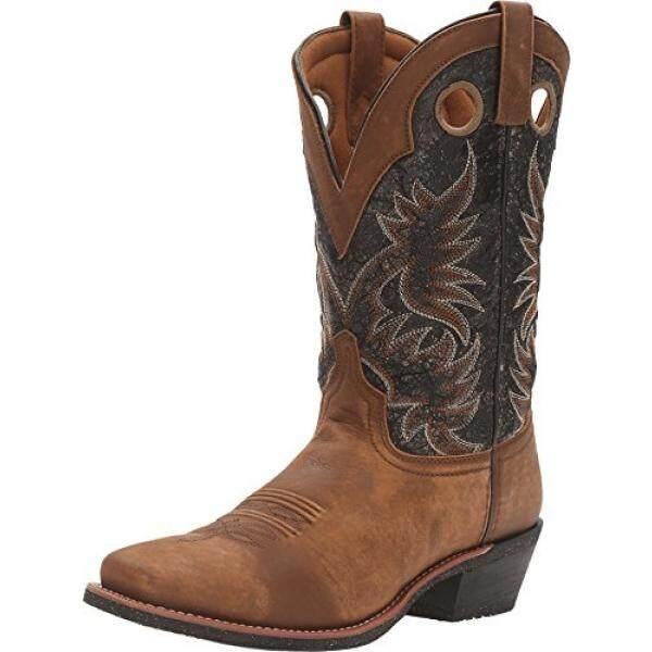 5d2633a52b8 Laredo Mens Black Stillwater Leather Cowboy Boots 12in Tan 9 D