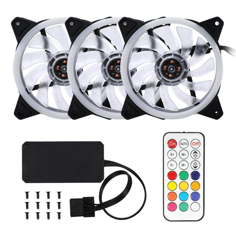 Computer Case PC Cooling Fan Adjustable RGB Light Fan Cooler for CPU with Remote Control Malaysia