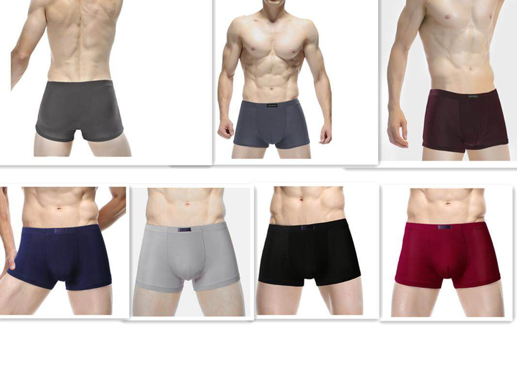 d3e5e24029 Hetu 7pcs set New Men s Plain Underwear Modal Fiber Soft Breathable Thin  Four Angle Underwear