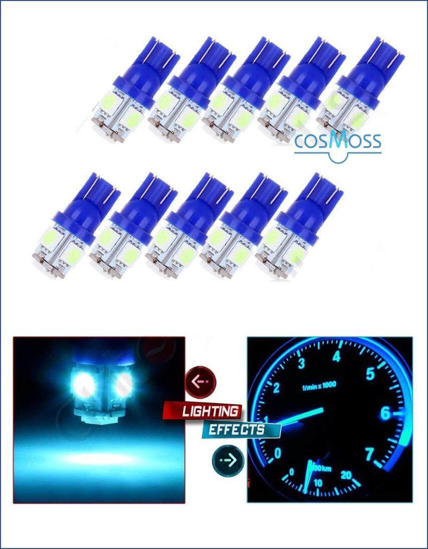 T10 LED BULB 5050 12V ICE BLUE - 10PCS