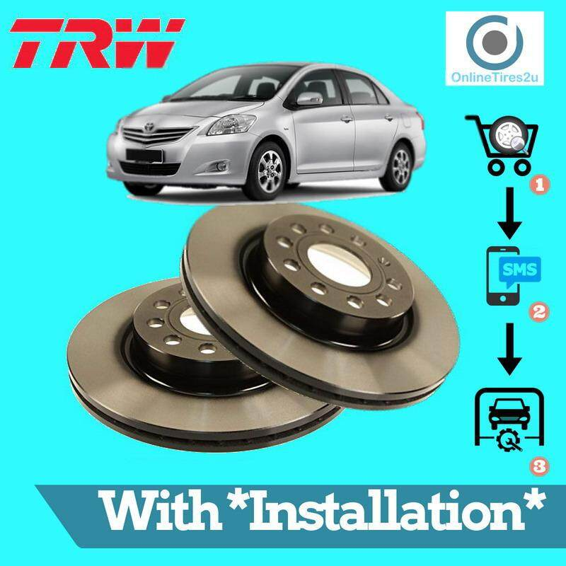 Brake Disc Rotor Front (1 Pair) - Toyota Vios (2008-2012) (with Installation) By Onlinetires2u.