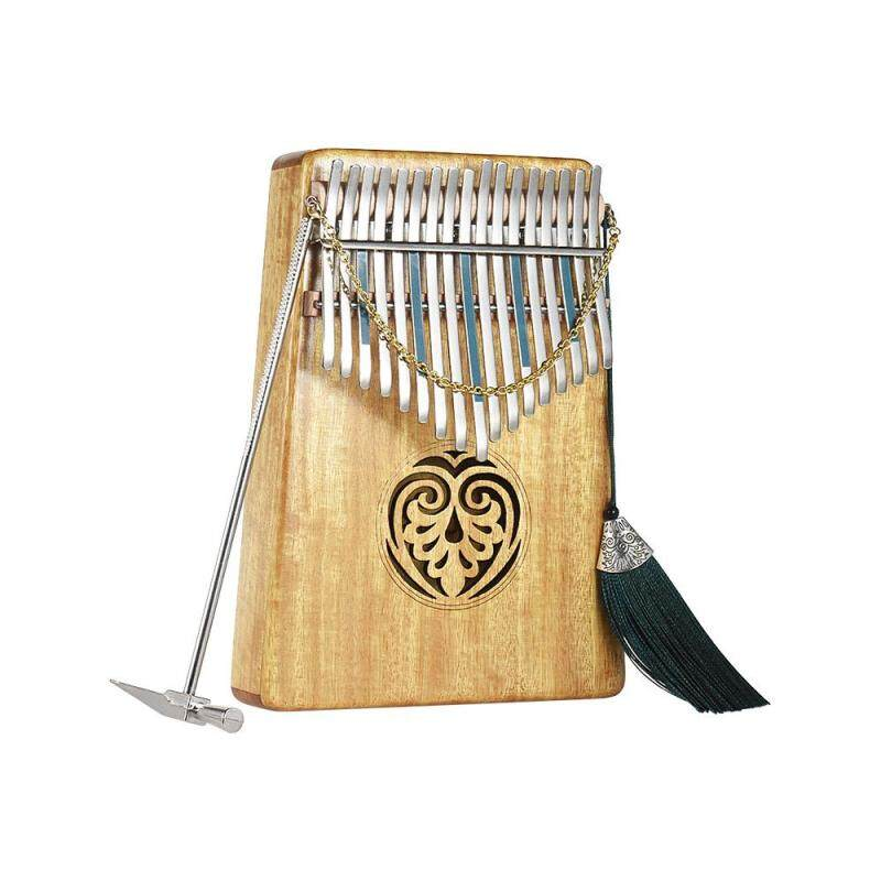 Kalimba Mbira Thumb Piano Sanza 17 keys Solid Wood Finger Piano with Carry Bag Music Book Musical Scale Stickers Tuning Hammer Musical Gift Malaysia
