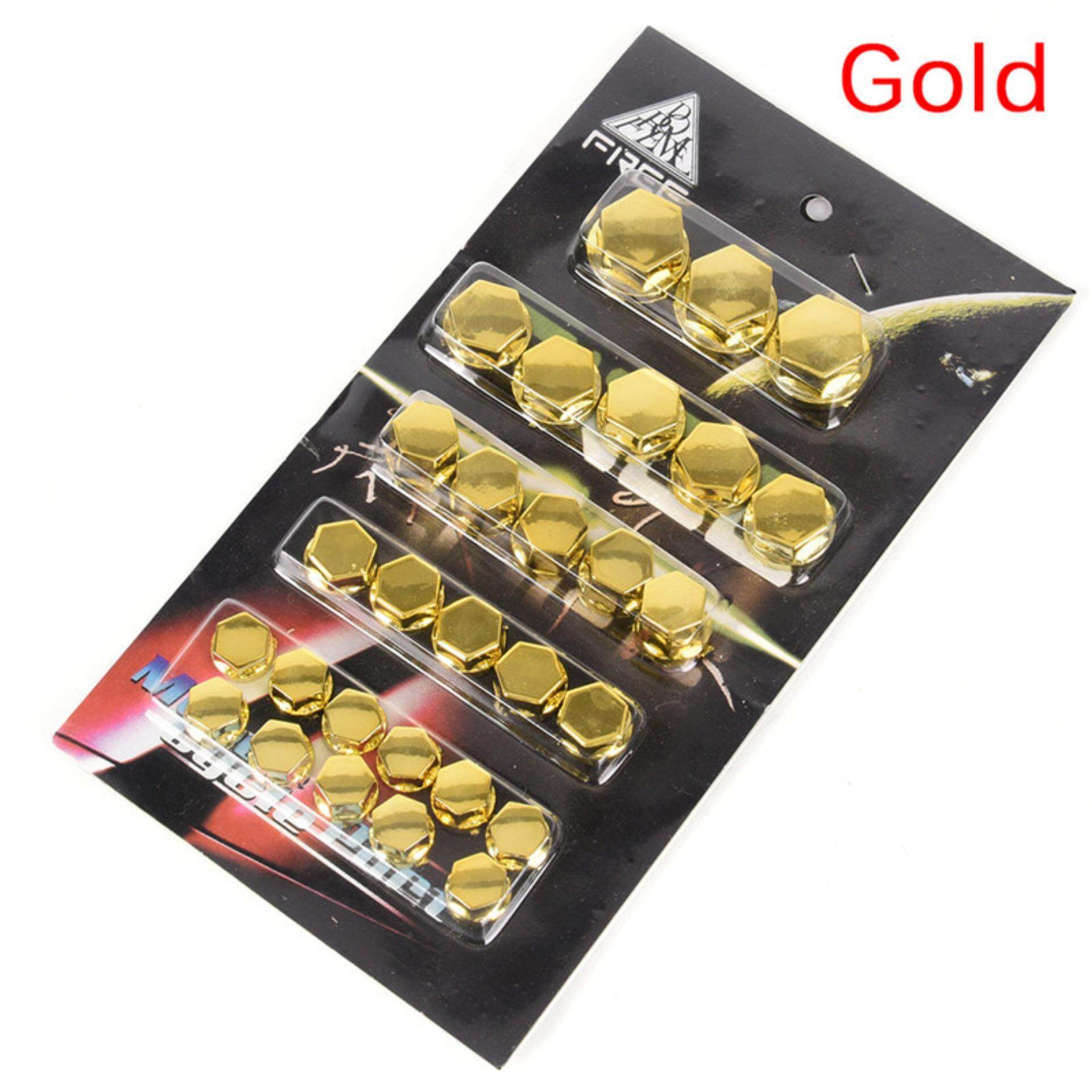 30pcs Motorcycle Screw Nut Bolt Cap Cover Decoration Centro Motorbike Ornament Fashion Gold By Up Top.