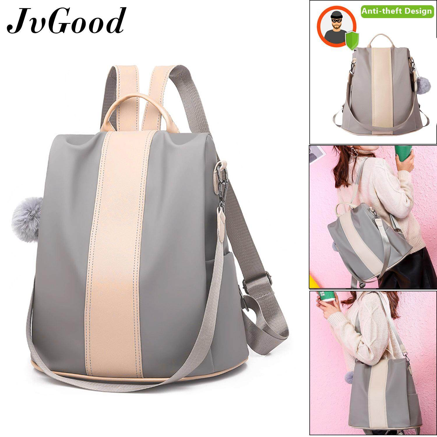 JvGood Shoulder Backpacks Women Korean Style Sling Bag Women Bag School Bag  Waterproof Oxford Daypack Lightweight Anti-theft 2018 New Version ce100b7b8a8f4