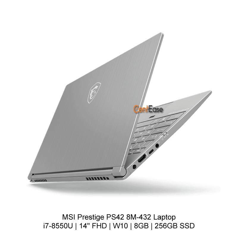 MSI Prestige PS42 8M-432 Laptop - i7-8550U 14 FHD W10 8GB 256GB SSD Malaysia