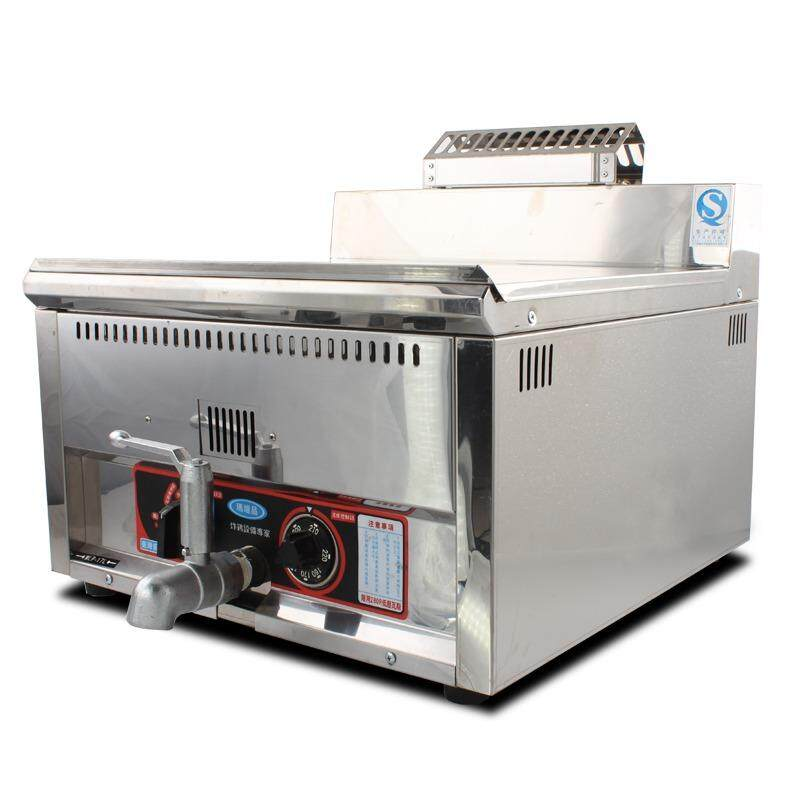 Malupin Mlp-17l 17l Stainless Steel Counter Lpg Gas Deep Fryer Commercial 1 Tank Fry Chicken Machine With Thermostat By Hikitch Kitchen Equipment Store.