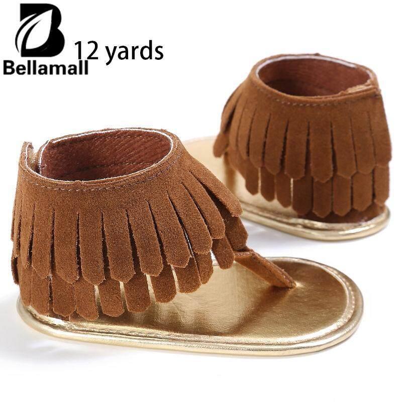 Bellamall:baby Accessories Decorations Baby Girl Tassel Sandal Summer Shoes Anti-Slip Flip Flop Prewalker Beach 0-18m By Bellamall.