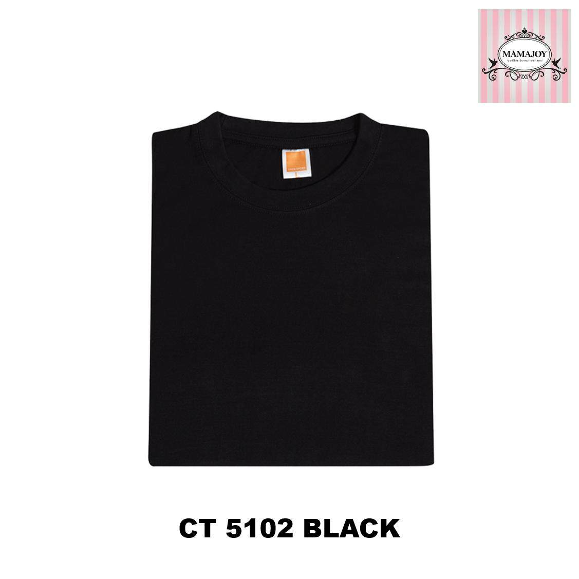 Chinese Style Men Round Neck New With Text Cotton Top T Shirt Tee Male Indonesia Slub Black Hitam M Ct51 Oren Sport Unisex 100 160gsm Col Ct5102