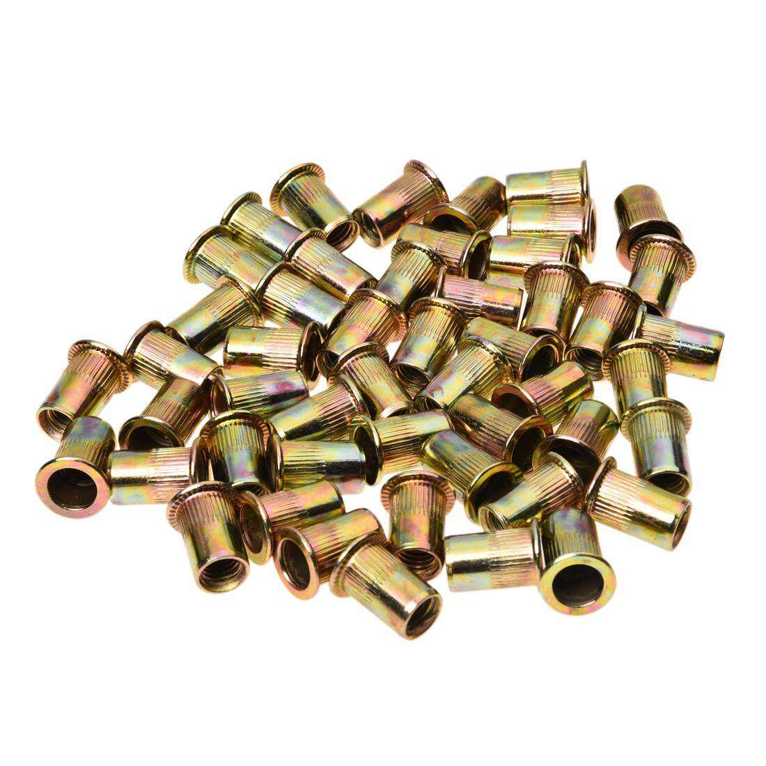 50 PCS Flat Head Rivet Nut Furniture Decoration Instrument (M8)