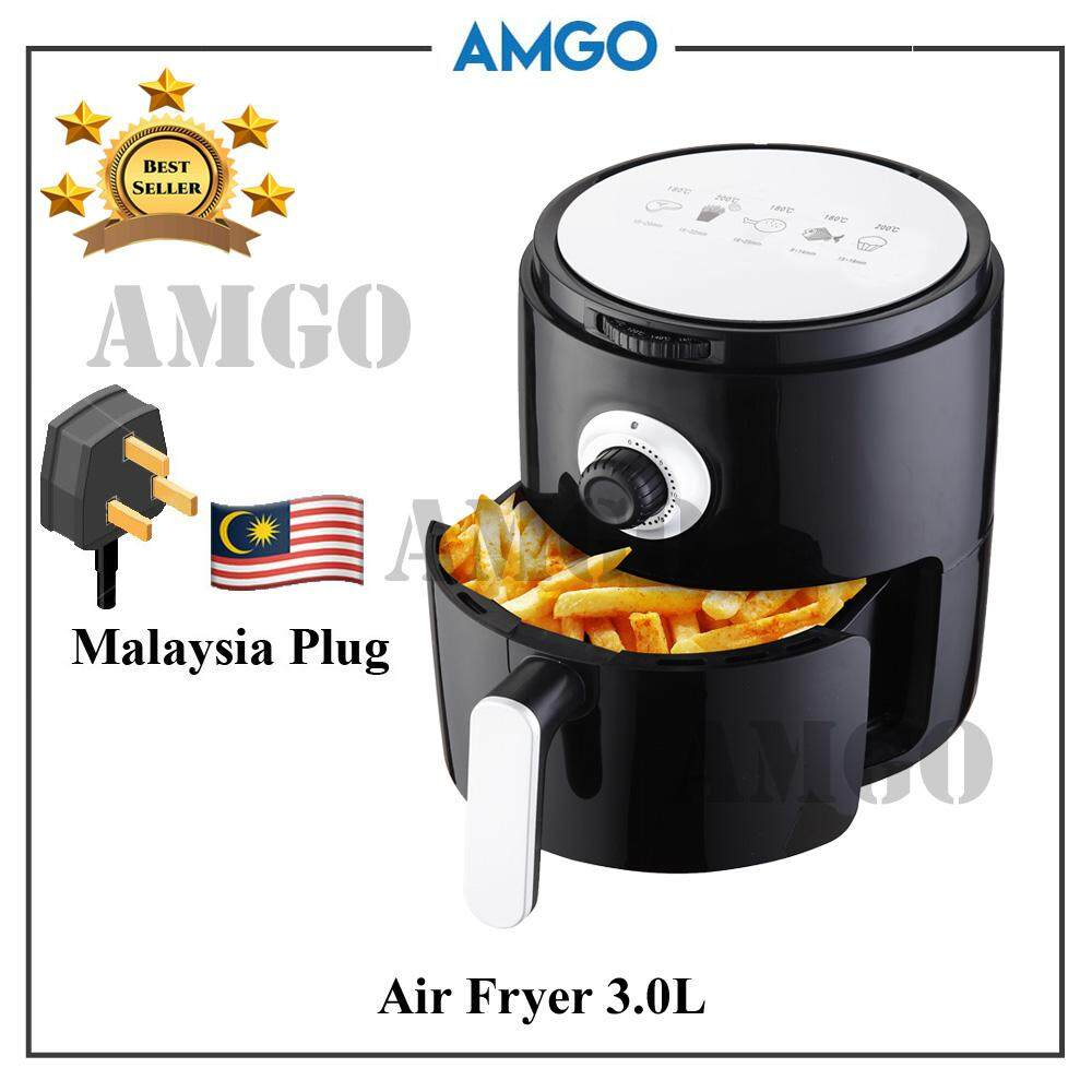 Amgo 3.0l High Capacity Air Fryer [malaysia 3-Pin Plug] By Amgo Water Filter.