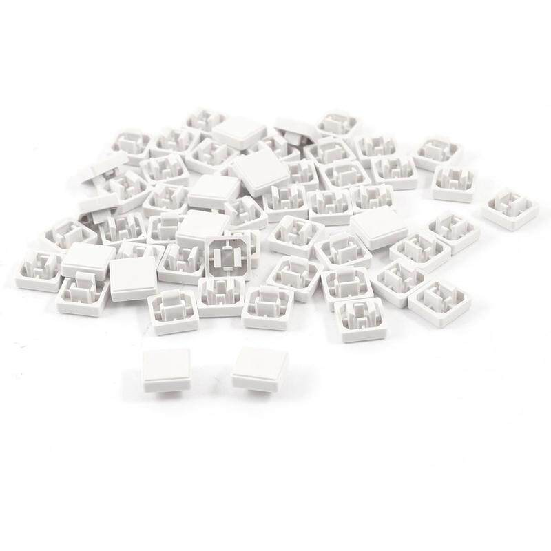 55pzs Square Button Lids Cap Protector White for 12x12mm Tact Switch