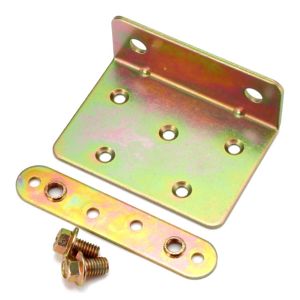 4 Sets Golden Aluminum Bed Hinge Furniture Hardware Parts Buckle Hook 88x63mm