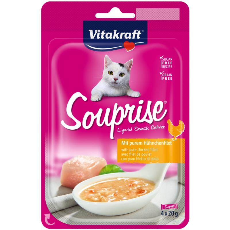 Vitakraft Cat Souprise Pure Chicken Fillet (4x20g) X 3 By Pets Value Mart.