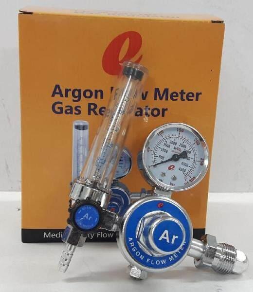 e Argon Flow Meter Gas Regulator with Pressure Gauge for MIG / TIG Welding