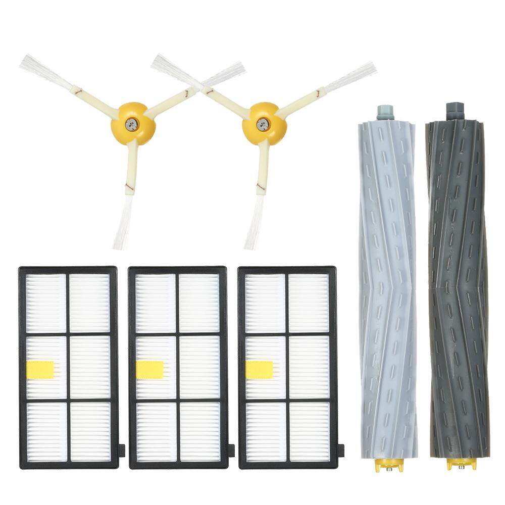 Pack Of 7 Replacement Accessories Kit For Irobot Roomba 800 & 900 Series 805 860 861 864 866 870 880 890 891 894 960 961 964 966 980 Vacuum Cleaner--Tangle-Free Debris Extractor Brush + Side Brush + Hepa Filter By Tomtop.