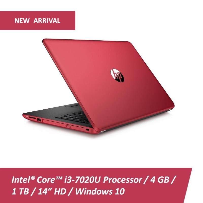 HP 14-bs728TU 14 Laptop Empress Red (Intel Core i3-7020U, 4GB RAM, 1TB HDD, Intel HD, Win10) + Free HP Backpack Malaysia